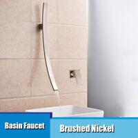 Wasserhahn Bad Waschtischarmatur Badarmatur Armatur Gebürstetes Nickel mixer tap