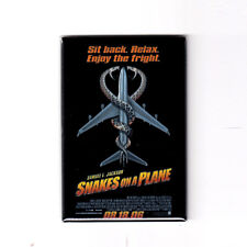 """Snakes On A Plane - 2"""" x 3"""" Movie Poster Magnet (samuel l jackson action horror)"""