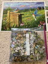 Hautman Brothers Collection 1000 pc Puzzle Garden Gate Bluebirds