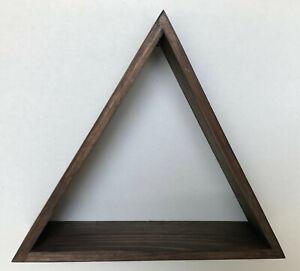 Wood Mountain Triangle Pyramid Shelf Handmade Woodland Nursery Wall or Shelf Dec