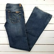 Silver Jeans Tina Womens 30x35 Medium Wash Low Rise Flare Leg J119