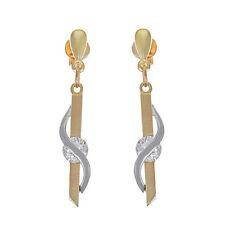 Synthetisch hergestellte echte Ohrschmuck aus mehrfarbigem Gold für Damen