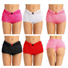 WOMENs GIRL SEXY MESH FRENCH MAID KNICKERS PANTIES SISSY MENS RUFFLED UNDERWEAR
