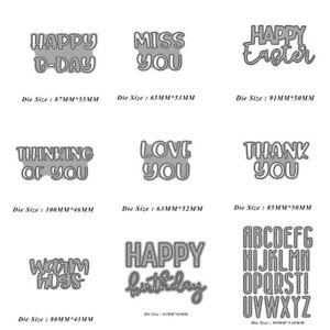 Letter Metal Cutting Dies Word Card Making Scrapbooking Embossing Stencil Craft