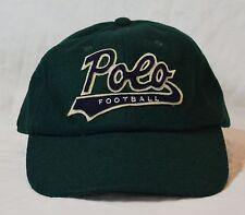 Polo Ralph Lauren Cap Ballcap Wool Green Football Logo Hat NWT