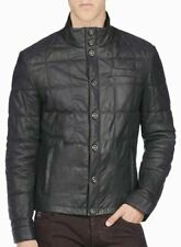 Men's Leather Jacket Genuine Lambskin Leather Quilted OuterWear JacketMotorcycle