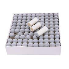 lot 100pcs 9mm PU Leather Push on Snooker Billiard Table Pool Cue Stick Tips