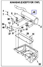 (1) OEM Exmark muffler 103-3427