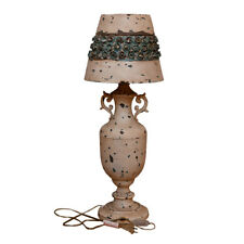 Antique Metal Rose Table Lamp Bedside Desk Lamp Decorative Nightstand Desk Lamp