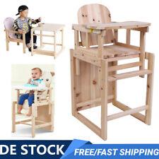 2in1 Baby Kinderhochstuhl Kinderstuhl Hochstuhl Babystuhl Kombihochstuhl Holz DE