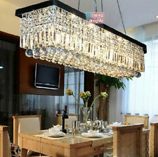 Modern Contemporary Crystal Pendant Light Ceiling Lamp Chandelier Lighting 100cm