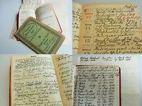 2 Tagebücher ULM 1921/22: METHODISTEN-Prediger BARNIKEL. Gemeindemitgliederliste