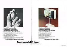 PUBLICITE  1974   CONTINENTAL  EDISON    (2 pages) téléviseur deux thyristors