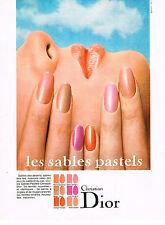 PUBLICITE  1968   CHRISTIAN DIOR   cosmétiques