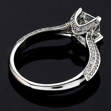 2.05 CT PRINCESS CUT DIAMOND HALO ENGAGEMENT RING 14K WHITE GOLD ENHANCED