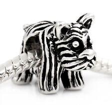 Dog Long Haired Terrier Puppy Animal Pet Bead for Silver European Charm Bracelet