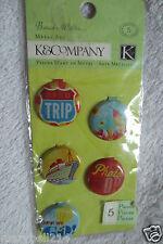 k & Company BW Around The World Museum Badge Metal Art New