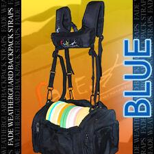 NEW BLUE FADE WEATHERGUARD Backpack Straps 4 Disc Golf Tourney Bag / rainy days