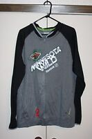 Reebok Center Ice Minnesota Wild Full Zip Track Jacket Hockey NHL Men Large EUC