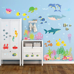 Decowall DW-2014 Under the Sea Nursery Kids Removable Wall Stickers Decals