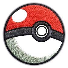 Pokemon Poke Ball Team Embroidered Patch Applique Pikachu Logo Iron on Nintendo