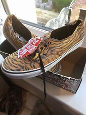 Mens Vans (rare) Tiger Stripe Brown Uk Size 12 Eur 47 Shoes Trainers