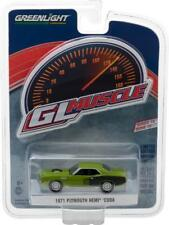 2017 Greenlight Muscle 1971 Plymouth Hemi Cuda Sassy Grass Green 1:64 Scale S-18