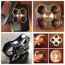 Hand Spinner Tri Fidget Stress Reducer ADHD Anxiety Desk Toy EDC Metal Ball
