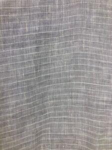 Restoration Hardware Woven Pin Striped European Sham Gray & White Linen