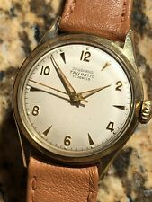 1940s Junghans Chronometer Vintage German Made Mens Watch Manual 33,3mm Bicolor