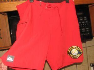 Newport Beach Lifeguard official authentic surf board shorts 36 waist Quiksilver