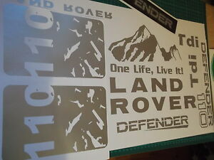 DEFENDER Sticker set Vinyl Decal  110 TD