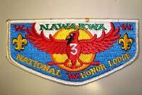 OA NAWAKWA LODGE 3 ROBERT E LEE COUNCIL SCOUT PATCH HONOR CARDINAL SERVICE FLAP