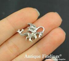 12pcs Dragon Metal Charm Antique Tibetan Silver Charm Pendant SC413