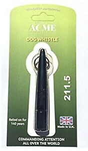 Acme 211.5  Dog Training Recall Whistle in Black - Gun Dog Whistle