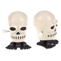 1x Creative Funny Jumping Clockwork Halloween Toy Children Wind Up Skull Toys IJ