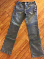 Nine West Women's Gray Denim Straight Leg Stretch Jeans Low Rise Size 8R