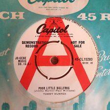"Tommy Hunter - Poor Little Bullfrog UK 1963 7"" Capitol Demo"