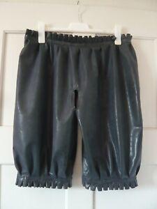 L/XL Haremshose Pumphose Rüschen ouvert Pants Slip Latex Gummi Rubber Unisex