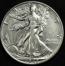 1947-p Walking Liberty Half.  A.U.  84633  (Inv C)