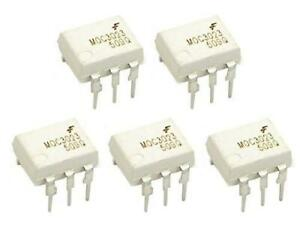 5 pcs MOC3023 Optocoupler DIP8 with Triac Output - max 400V AC switching Voltage
