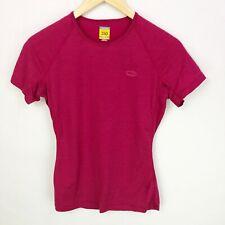 Icebreaker Womens Medium Merino Wool Bodyfit 150 Short Sleeve Tee Top Shirt Pink