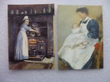2 x  Postcards from Chesterfield museum and art gallery, A cook and a Nurse.