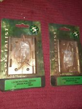 2 X Brass Plated Hinges  X 2 Packets
