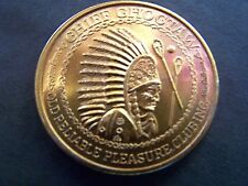 1969 Choctaw WHEN YOU WISH UPON A STAR Copper High Relief Mardi Gras Doubloon