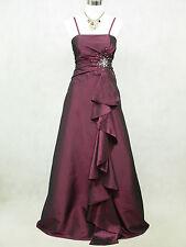 Cherlone Übergröße Lila Ballkleid Brautkleid Abendkleid Brautjungfer Kleid 50