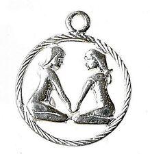 Plata Esterlina Zodiac Gemini pendant/charm