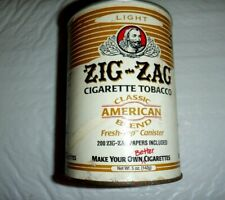 Vtg Zig-Zag Cigarette Tobacco Tin, No Lid