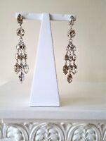 ISABEL MARANT Silver Swarovski Crystal Embellished Chandelier Earrings