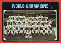 1971 Topps #1 Baltimore Orioles World Champions Team VG+ MARKED Jim Palmer